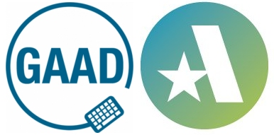 Global Accessibility Awareness Day logo on the left, Accessible360 logo on the right