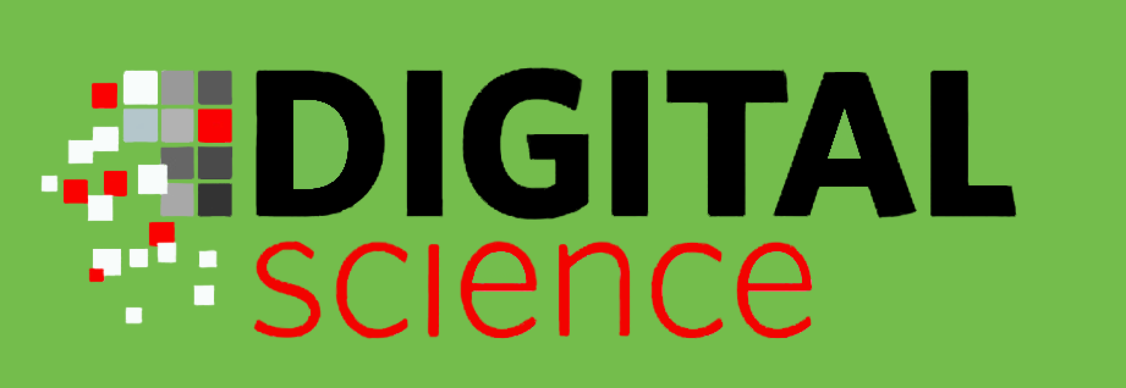 Digital Science's logo on a light green background