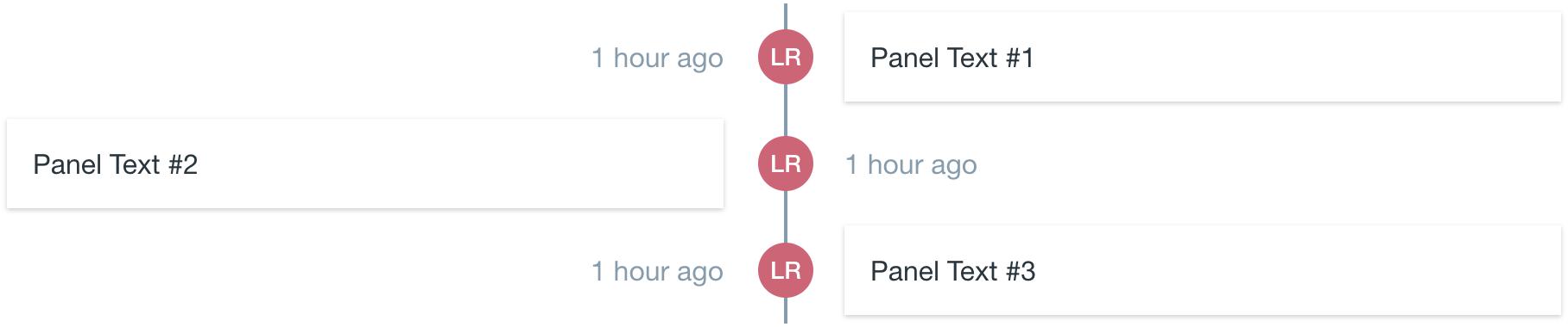 timeline center aligned even order