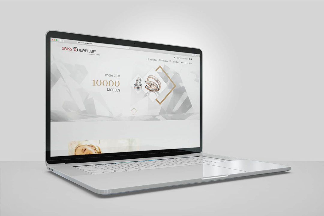 Projekat Swiss Jewellery Nakit, Website Dizajn, SEO Optimizacija, CRM Integracija Sistema