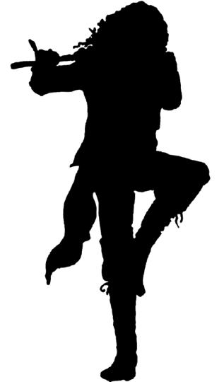 Siluette of Jethro Tull