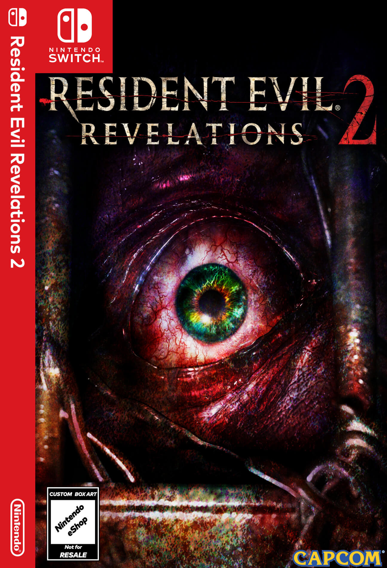 A custom boxart design for Resident Evil: Revelations 2, which never saw a physical release (of it's own) on Switch