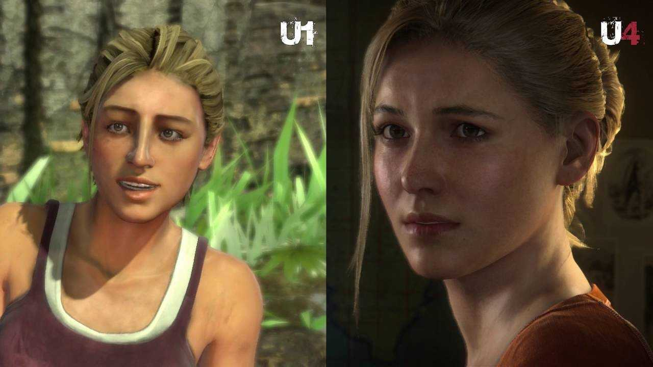 Uncharted 1 and Uncharted 4 graphics comparison