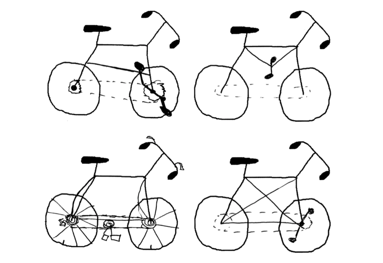 People cant draw a bike