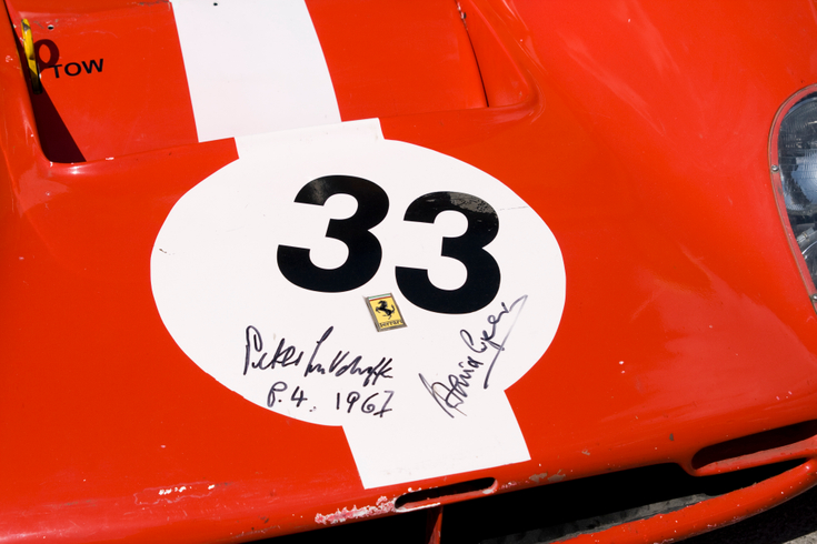 1967 Le-mans winners signatures