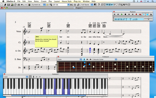 Sibelius (the music notation software)
