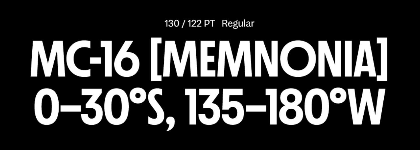 A screenshot of Nichrome, a typeface by Mass Driver