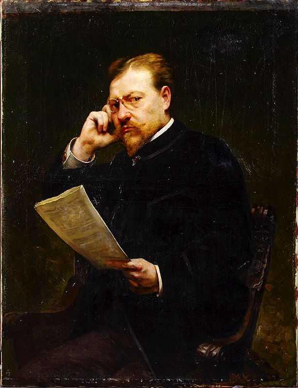 Luc Barbut-Davray, Portrait of Émile Zola, 1899