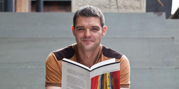 William Letford with his book Bevel
