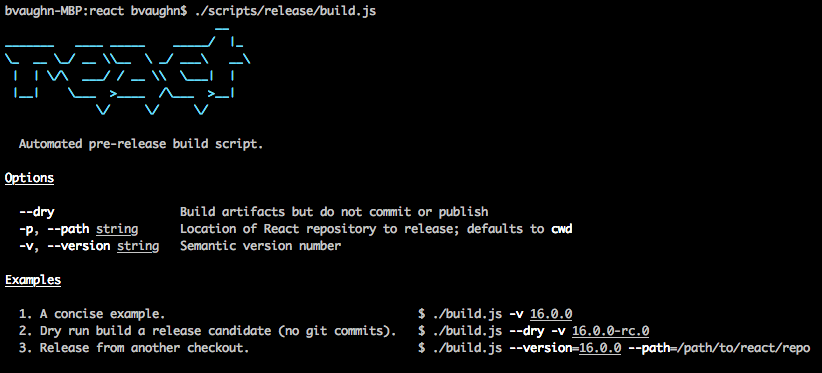 Release Script overview