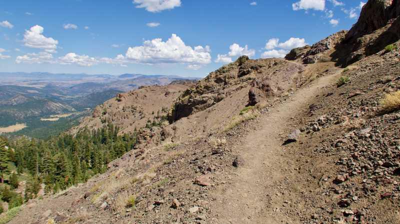 The trail climbs a ridge
