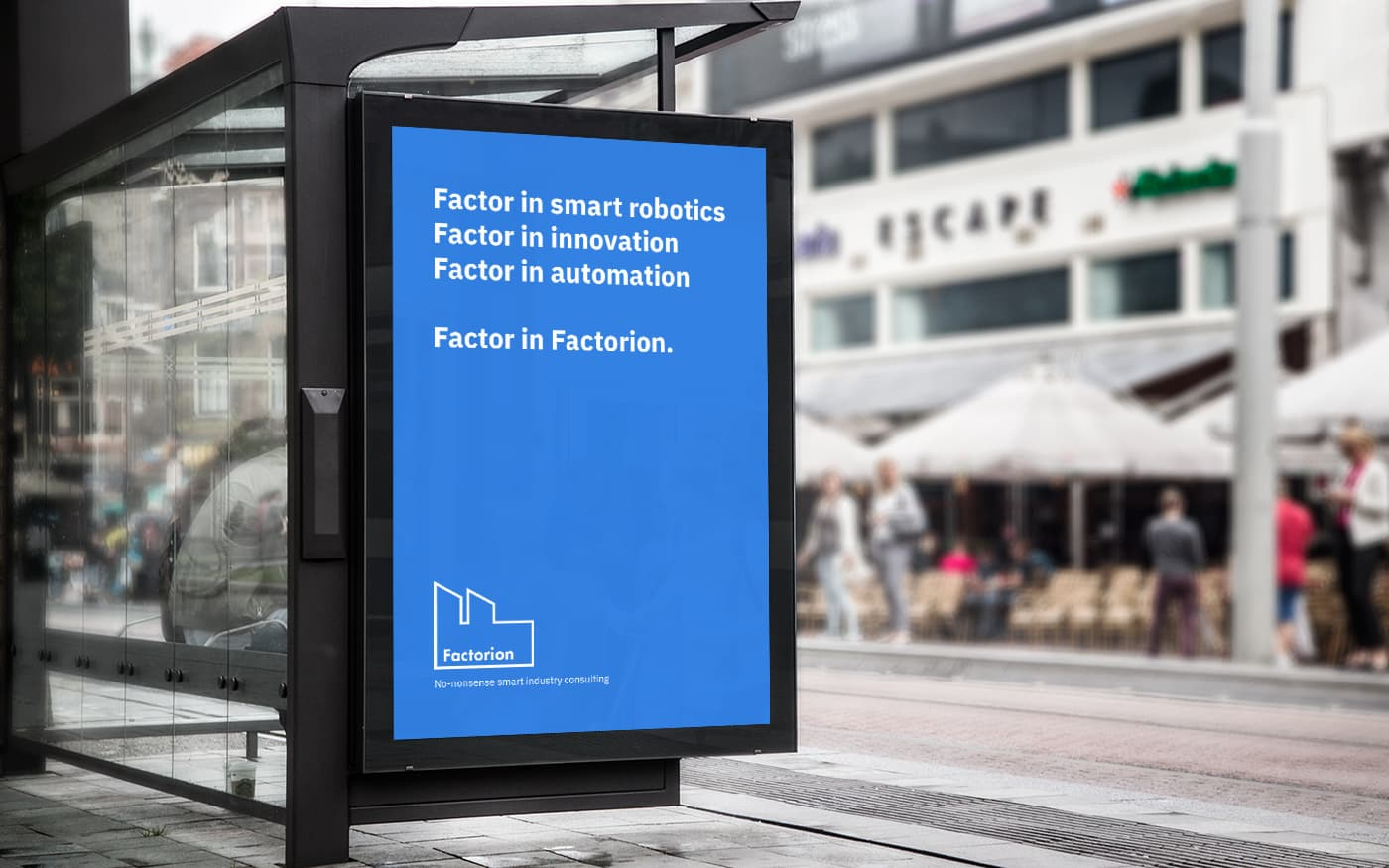 Factorion billboard advertisement with creative copywriting
