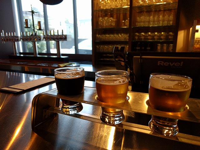 A fantastic flight of beers from Exhibit A in Framingham