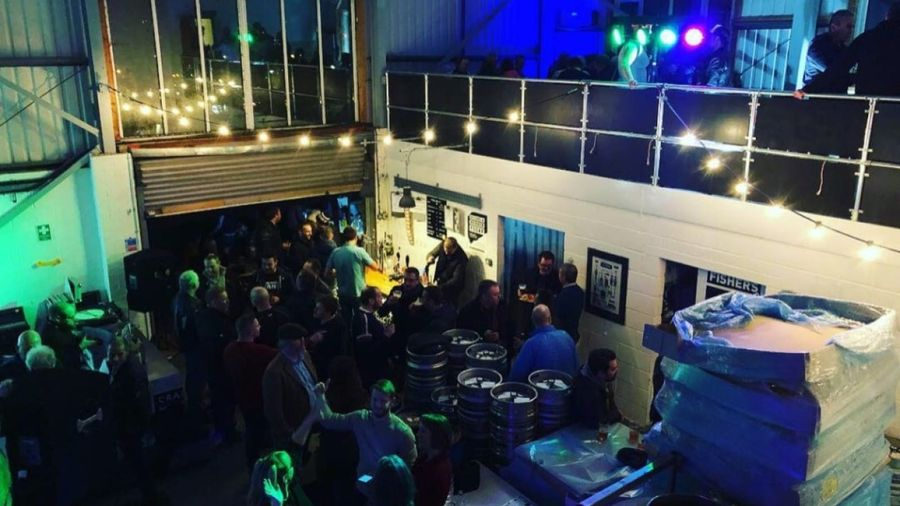 Night time event at Fisher's brewery