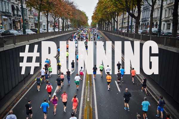 Läufer an einem Laufwettkampf