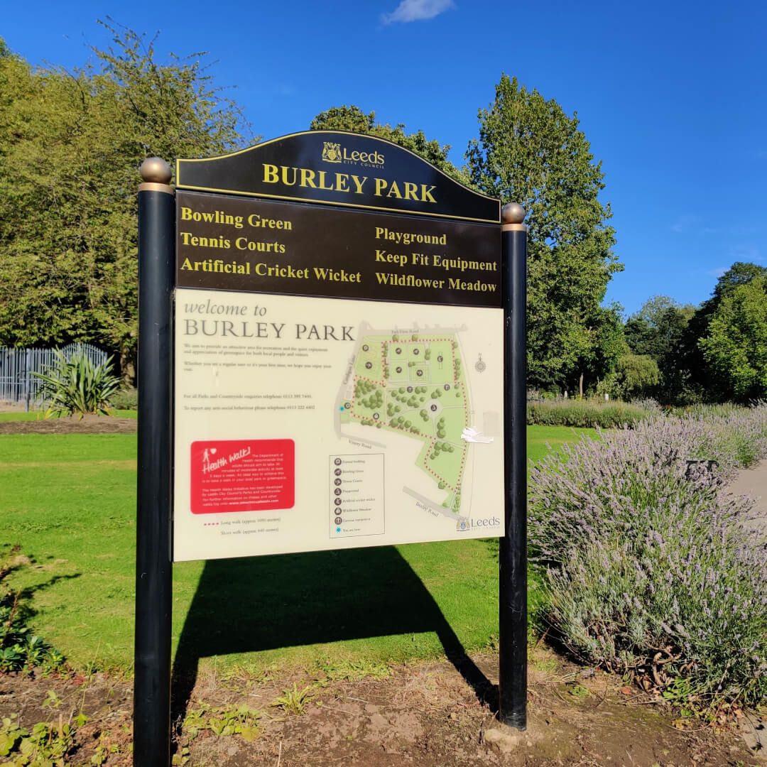 Burley Park Sign