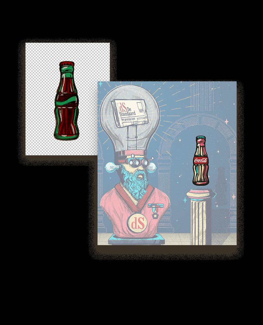 Bert Deckers Creative random selection De Standaard Coca Cola