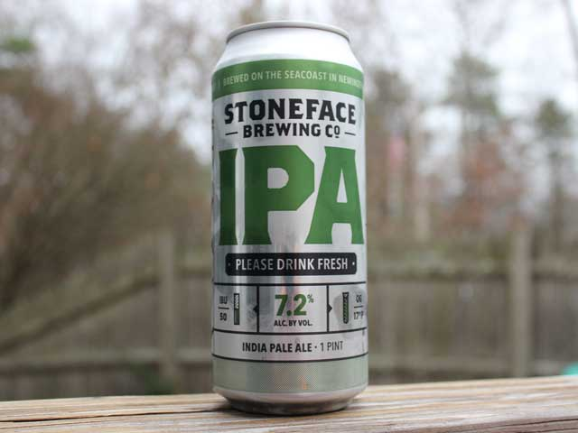An IPA brewed by Stoneface Brewing Company