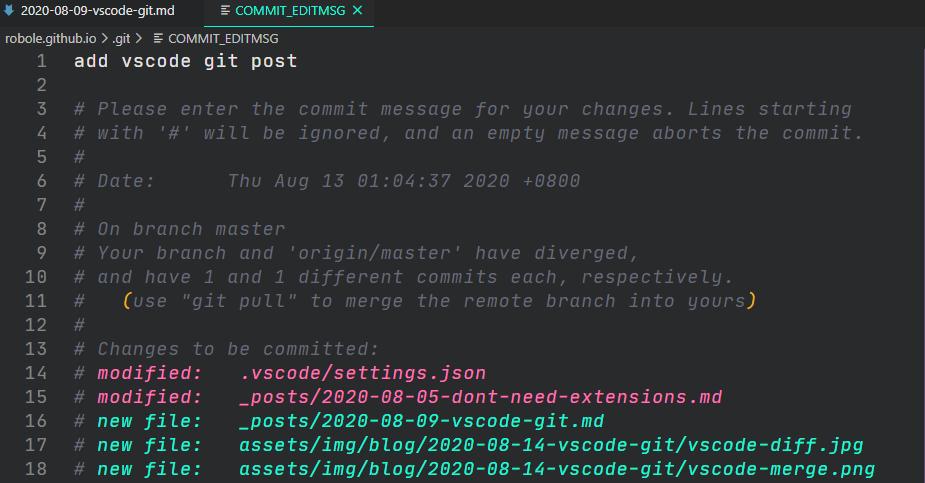 vs code commit