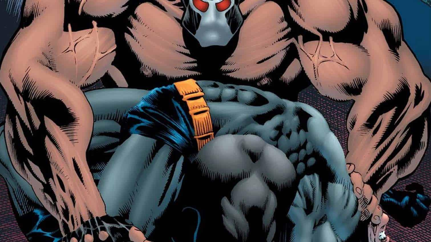 Capa da revista em que Bane quebra a coluna de Batman Bruce Wayne em A Queda do Morcego