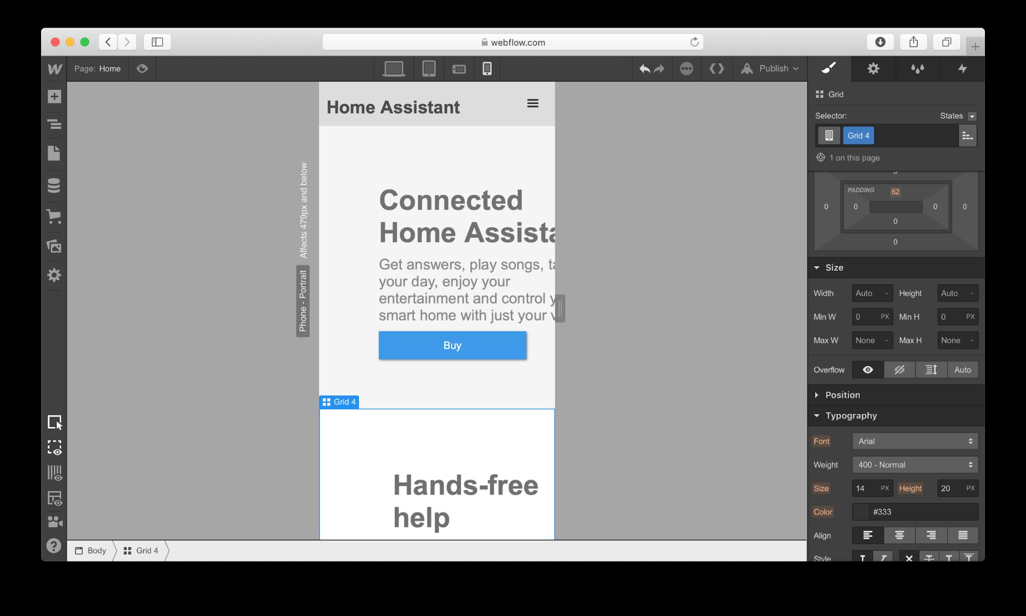 Webflow UI