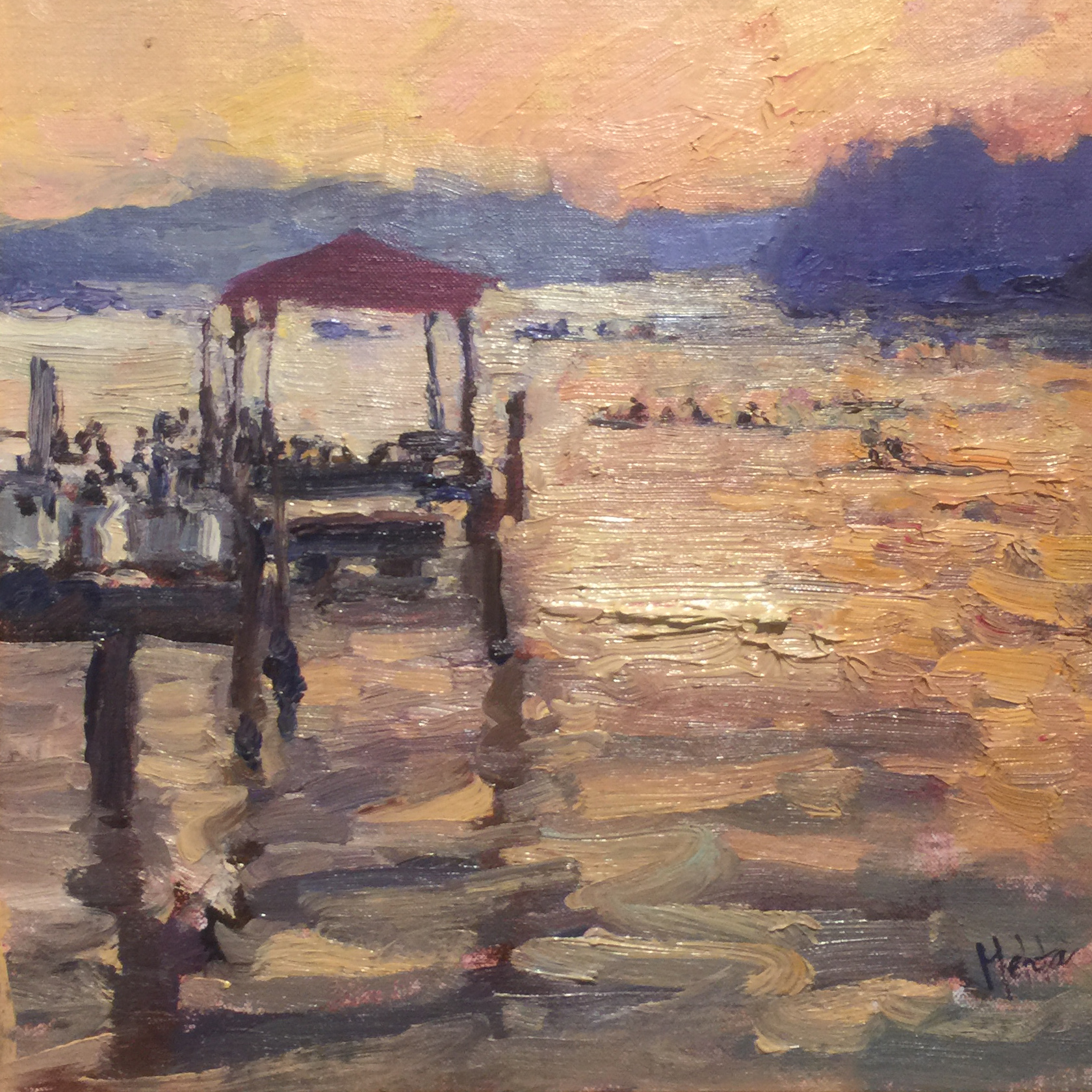 I painted this during Paint Annapolis 2015 and received Best Painting Incorporating Water award.