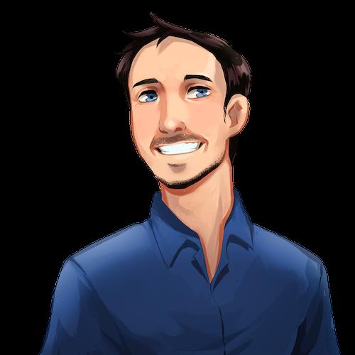 An illustrated portrait of Matt