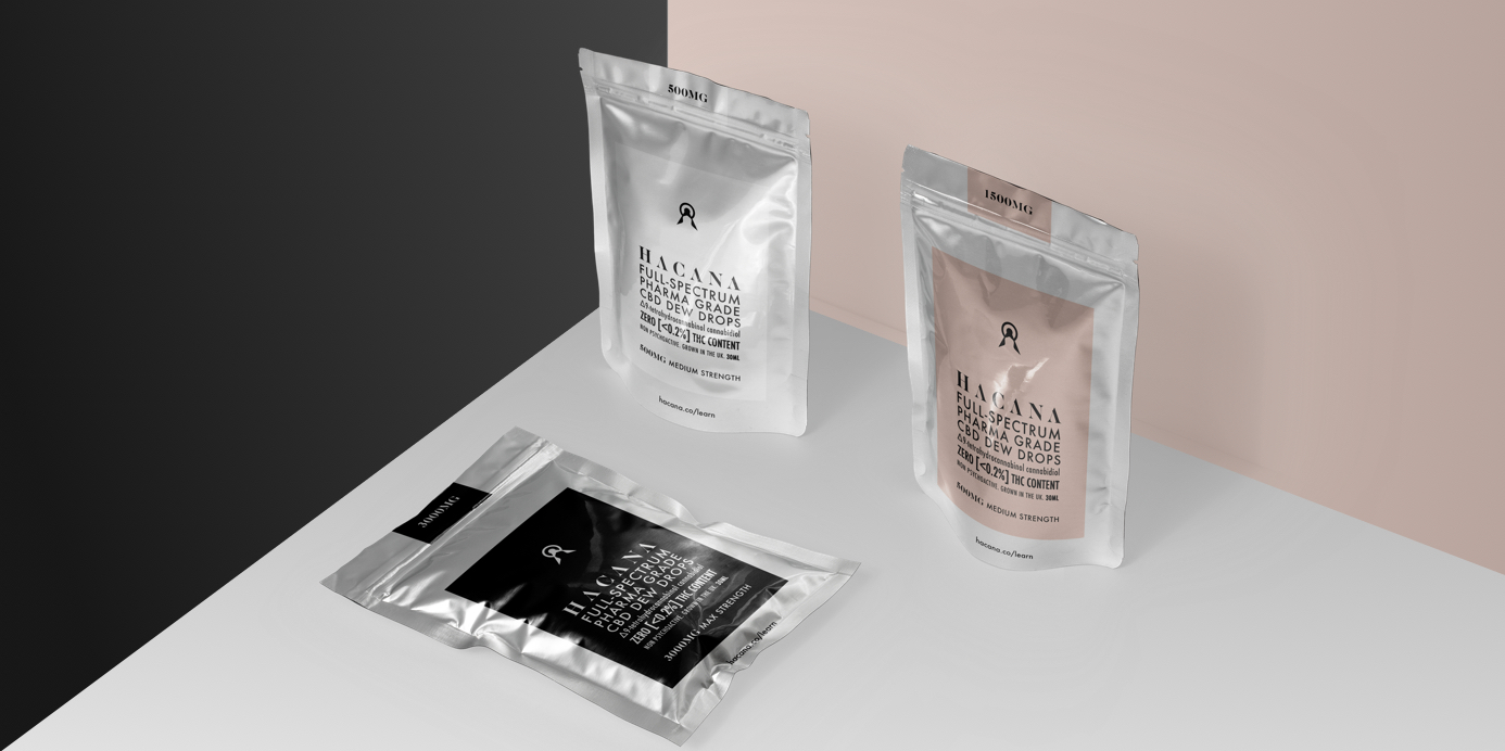 Packaging pouch design for CBD startup Hacana