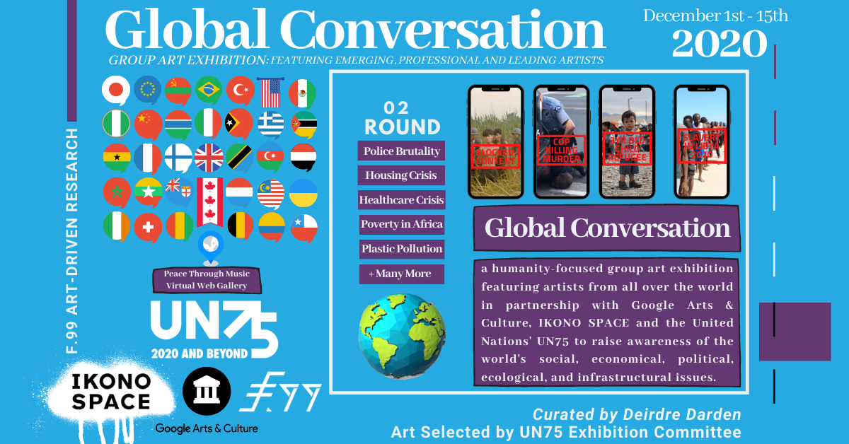 Flyer for United Nations 75th Anniversary's Global Conversation 2020: 2nd Round Exhibition