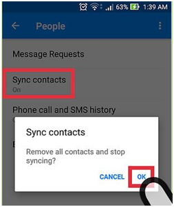 Remove all contacts and stop syncing