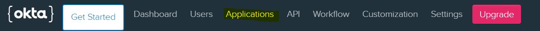 Okta application button