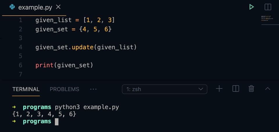 python set update method example