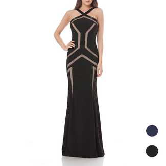 JS Collection Halter Neck Slim Gown