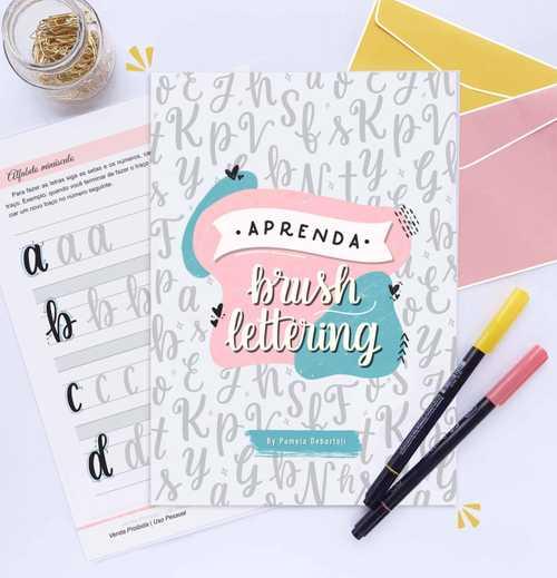 Capa Apostila de Brush Lettering