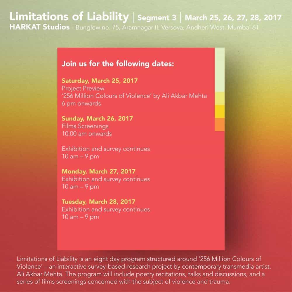 Limitations of Liability, segment 3, Harkat Studios, 2017