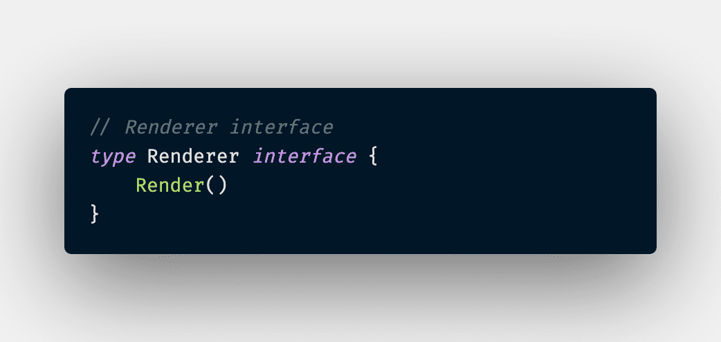 Proxy Renderer Interface