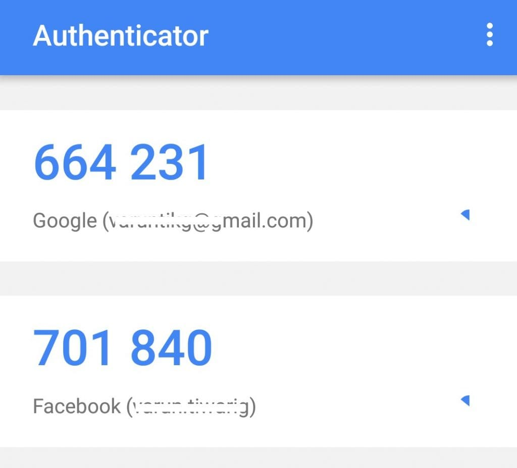 Setup Google Authenticator - New Code is added