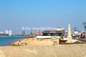 Landscape Picture of Sea Front at Clarence Pier, Southsea, Portsmouth