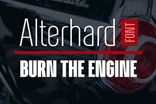 Alterhard Condensed Strict Font images/promo_alterhard_1.jpg