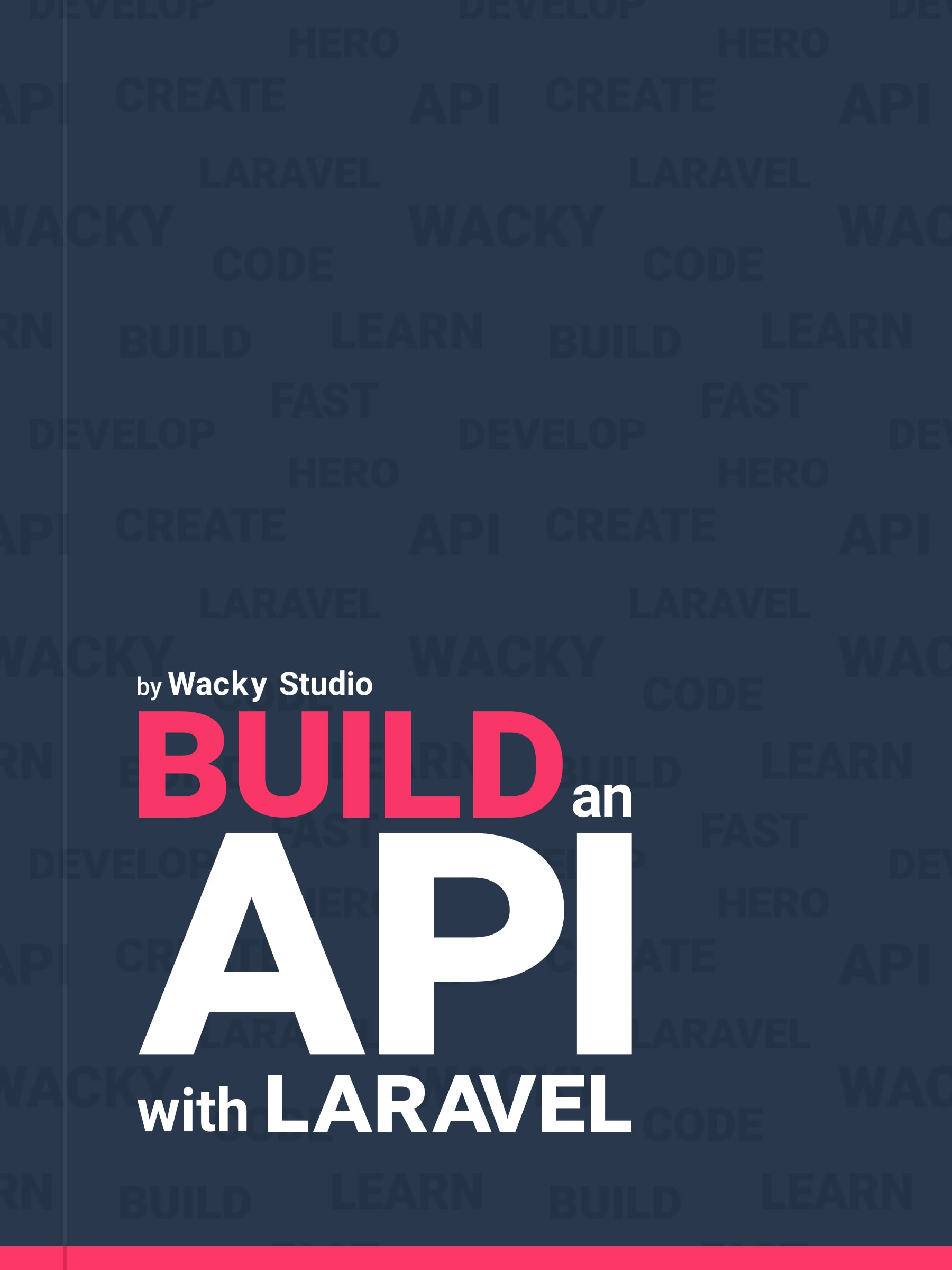 Build an API with Laravel - Book cover