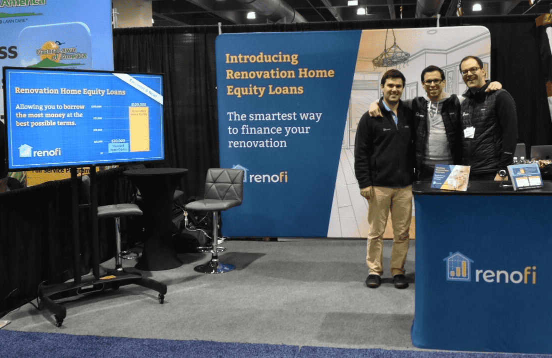 The RenoFi Booth at the Philly Home Show