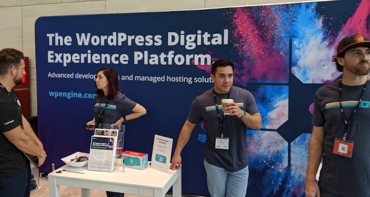 The WP Engine team at All Things Open