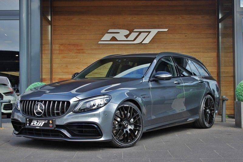 Mercedes-Benz C-Klasse C63 AMG 4.0 V8 Estate 476pk! **360°Camera/Burmester/Spoorassistent** afbeelding 1