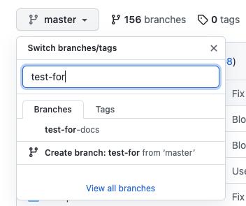 GitHub branch switcher