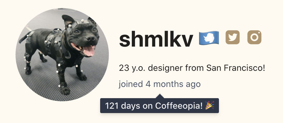 First user of Coffeeopia