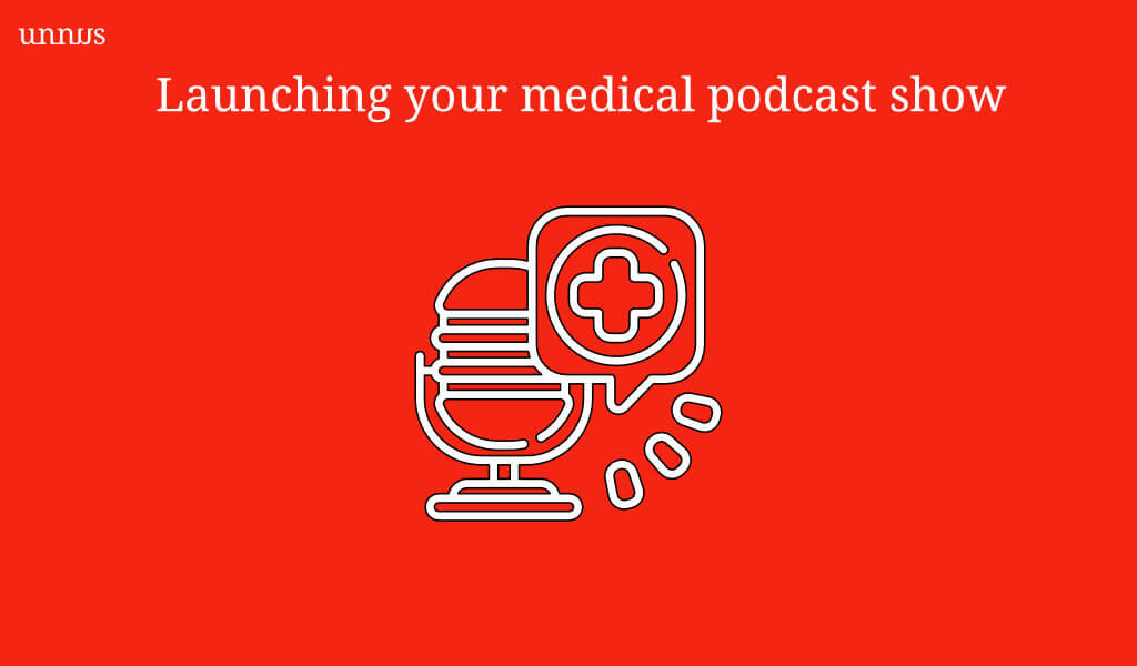 An illustrations that shows podcasting strategy for medical doctors