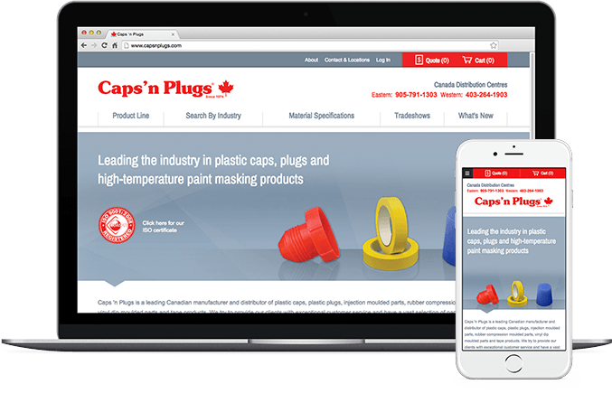 Caps 'n Plugs on Laptop and Mobile
