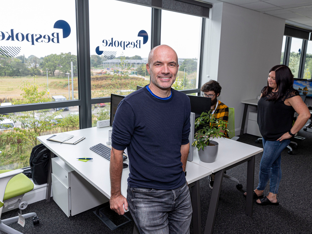 Steve Brennan at Bespoke Digital's offices