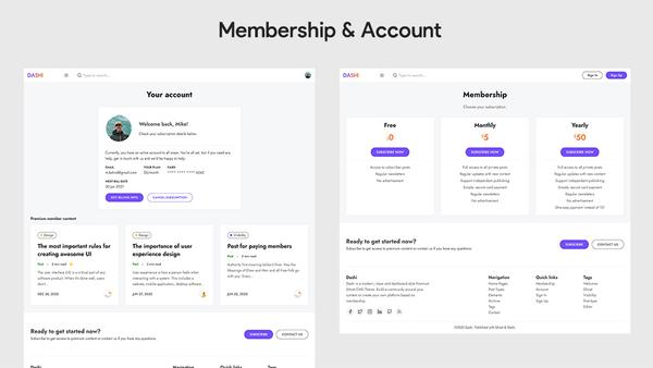 Dashi Ghost Membership and Account