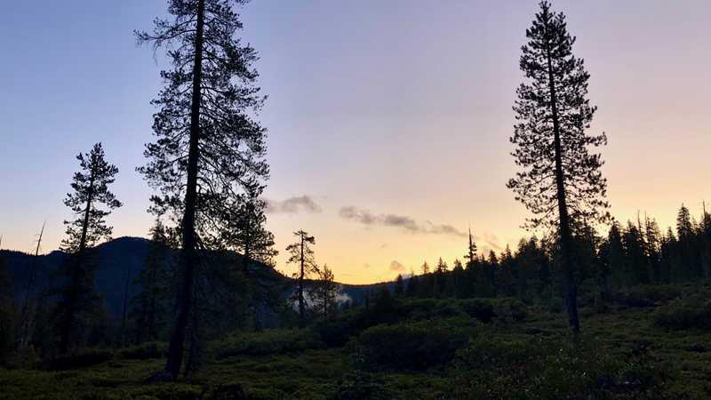 Sunrise at Lassen Volcanic National Park